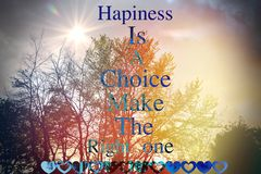 Texto da felicidade Imagens de Stock
