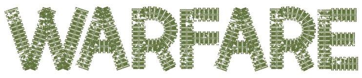 Texto da guerra com as letras feitas de trilhas do tanque Fotografia de Stock
