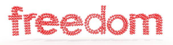 Texto da liberdade dos balões Imagens de Stock