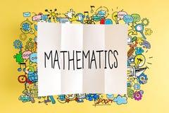 Texto da matemática com ilustrações coloridas fotos de stock royalty free