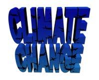 Texto da mudança de clima com planos ilustração stock