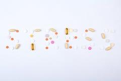 Texto da palavra do esforço feito de tabuletas coloridas Fotos de Stock Royalty Free