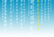 Texto da recuperação Imagem de Stock
