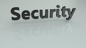 Texto da segurança 3D Imagens de Stock Royalty Free