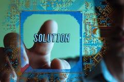 Texto da solução, conceito do negócio Imagem de Stock Royalty Free
