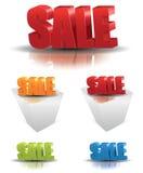 Texto da venda ilustração stock