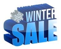 Texto da venda 3d do inverno ilustração stock