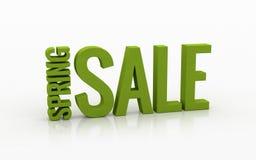 Texto da venda 3d da mola em um fundo branco Fotos de Stock