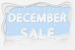 Texto da venda de dezembro ilustração do vetor
