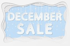 Texto da venda de dezembro ilustração royalty free