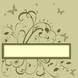 Texto das estrelas das flores de borboletas ilustração stock