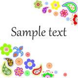 Texto das flores Foto de Stock Royalty Free