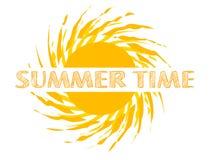 Texto das horas de verão Fotografia de Stock Royalty Free