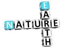 texto das palavras cruzadas da natureza da terra 3D Fotografia de Stock