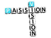 texto das palavras cruzadas da paixão da visão 3D Fotografia de Stock
