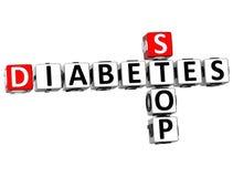 texto das palavras cruzadas da parada do diabetes 3D Imagem de Stock Royalty Free