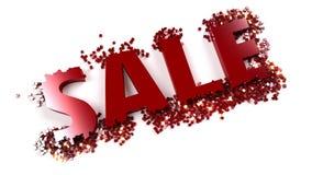 Texto das vendas que desintegrating Imagem de Stock Royalty Free