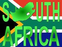 Texto de África do Sul com mapa Fotos de Stock