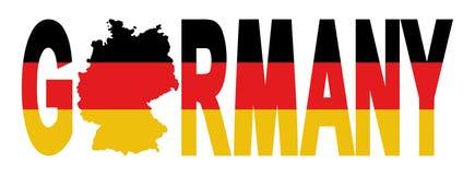 Texto de Alemania con la correspondencia ilustración del vector
