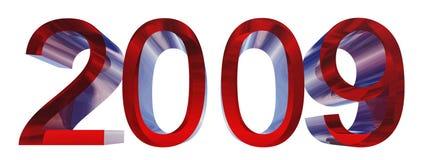 Texto de alta resolución 3D con 2009 Fotografía de archivo libre de regalías