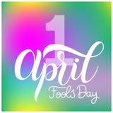 Texto de April Fools Day Imagens de Stock