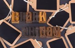 Texto de Black Friday Imagem de Stock Royalty Free