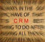 Texto de Blured no papel do vintage com foco em CRM (cliente Relatio Imagem de Stock Royalty Free