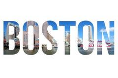 Texto de Boston fotos de archivo libres de regalías