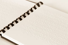Texto de Braille Imagen de archivo libre de regalías
