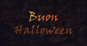 Texto de Buon Halloween en la disolución italiana en el polvo a basar Fotos de archivo libres de regalías