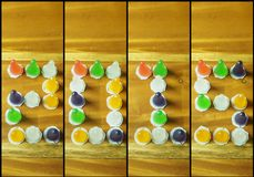 texto 2015 de colorido das geleias Foto de Stock