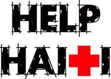 Texto de Haití de la ayuda stock de ilustración