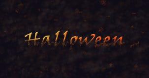 Texto de Halloween que disuelve en el polvo para basar Imagen de archivo