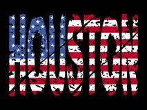 Texto de Houston com bandeira ilustração stock
