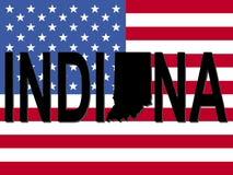 Texto de Indiana con la correspondencia libre illustration