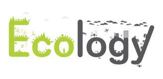 Texto de Infographic de la ecología. Imágenes de archivo libres de regalías