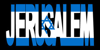 Texto de Jerusalén con el indicador stock de ilustración