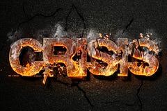 Texto de la crisis Imagen de archivo