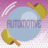 Texto de la escritura automotriz Relacionado automotor del significado del concepto a los automóviles de los coches del motor de  stock de ilustración