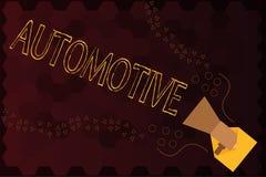 Texto de la escritura automotriz Relacionado automotor del significado del concepto a los automóviles de los coches del motor de  libre illustration