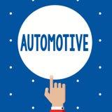 Texto de la escritura automotriz Relacionado automotor del significado del concepto a los automóviles de los coches del motor de  ilustración del vector