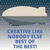Texto de la escritura creativo como nadie misil de alta calidad del torpedo de la creatividad del significado del concepto de Els imágenes de archivo libres de regalías