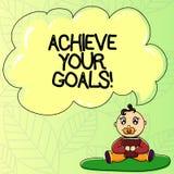 Texto de la escritura de la palabra alcanzar sus metas Concepto del negocio para lograr meta o hacer algo usted para establecerse ilustración del vector