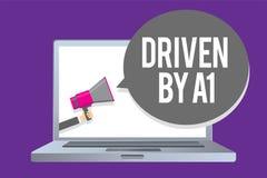 Texto de la escritura de la palabra conducido por A1 Concepto del negocio para el movimiento o controlado por un conductor de cal libre illustration