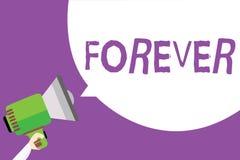 Texto de la escritura de la palabra para siempre Concepto del negocio para Peranalysisent eterno siempre para el hombre eterno si stock de ilustración