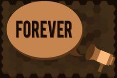 Texto de la escritura para siempre Concepto que significa Peranalysisent eterno siempre para eterno sin fin del tiempo futuro libre illustration