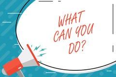 Texto de la escritura qué puede usted Doquestion Concepto que significa propósito de la determinación del servicio digno de la re stock de ilustración