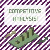 Texto de la escritura que escribe análisis competitivo Técnica estratégica del significado del concepto usada para evaluar fue ilustración del vector
