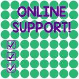 Texto de la escritura que escribe la ayuda en línea Versión generalmente en Internet electrónica del significado del concepto del ilustración del vector
