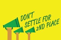 Texto de la escritura que escribe el Settle de Don t no para el 2do lugar El concepto que le significa puede ser el primer no par Imágenes de archivo libres de regalías